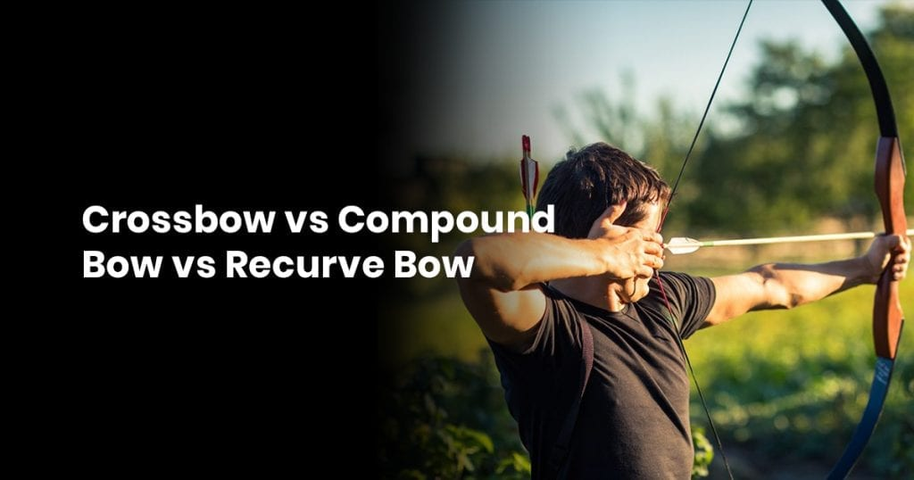 Crossbow vs Compound Bow vs Recurve Bow