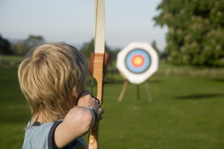 Practicing Archery