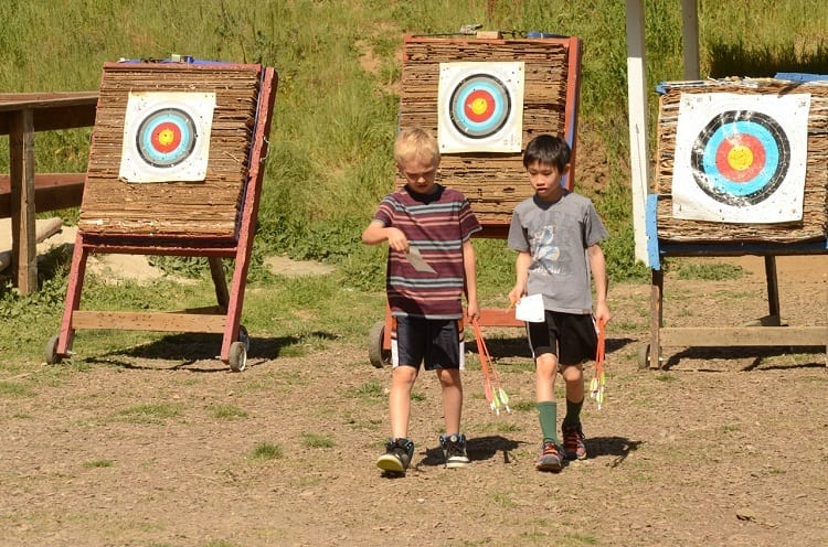 Boys On Archery Field