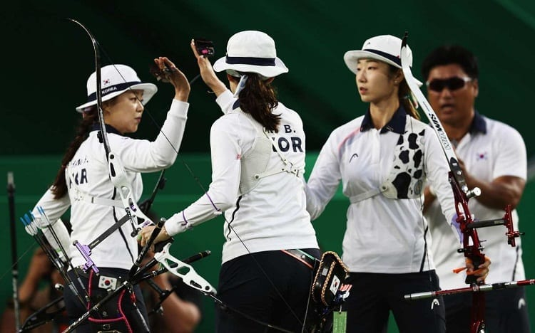korean archery team