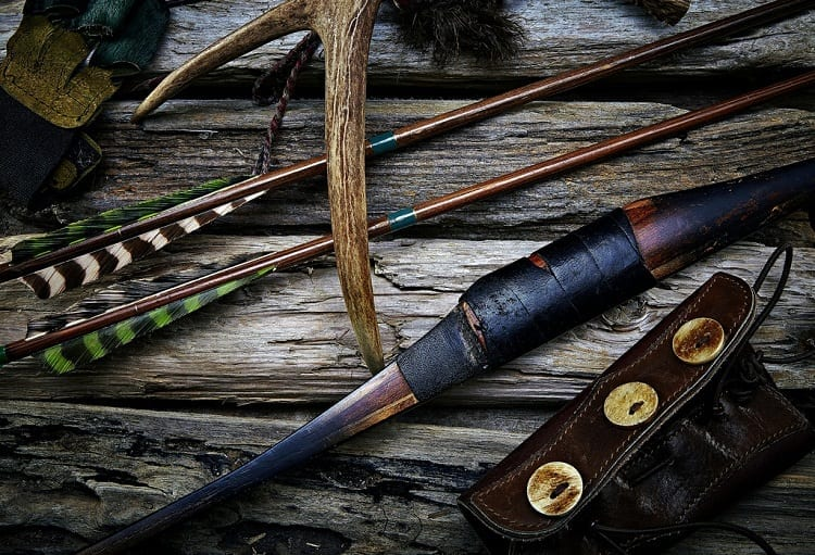 old bow and arrow