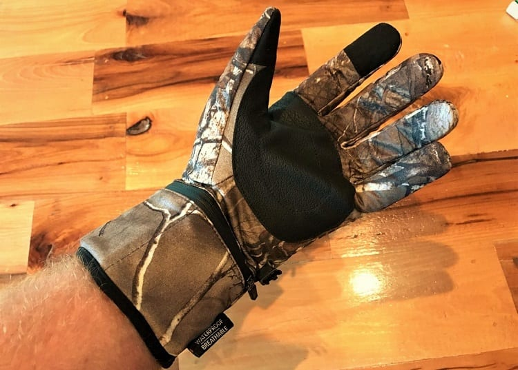 Wearing Fishing Gloves