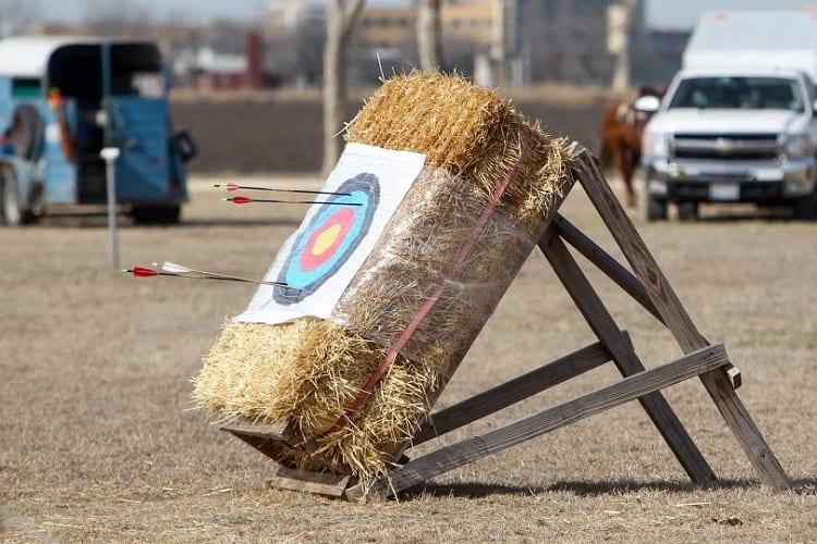Target On Straw Bale