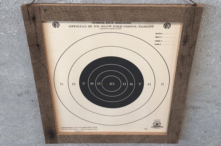 Wood Frame Target