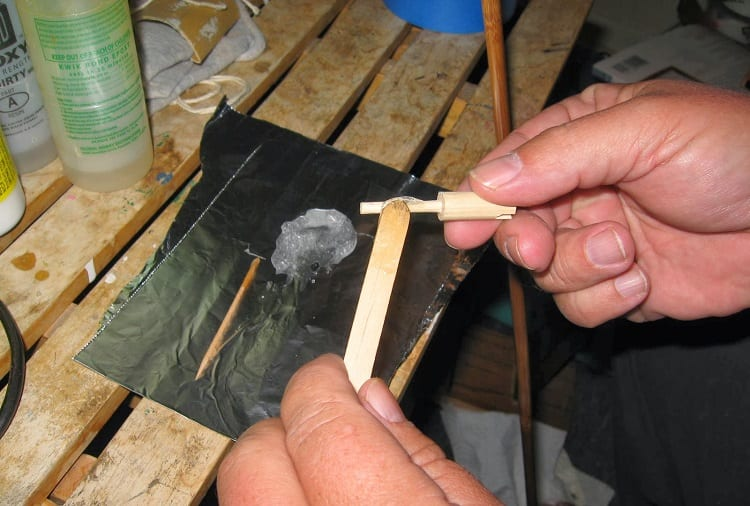 Gluing The Nock For Arrow