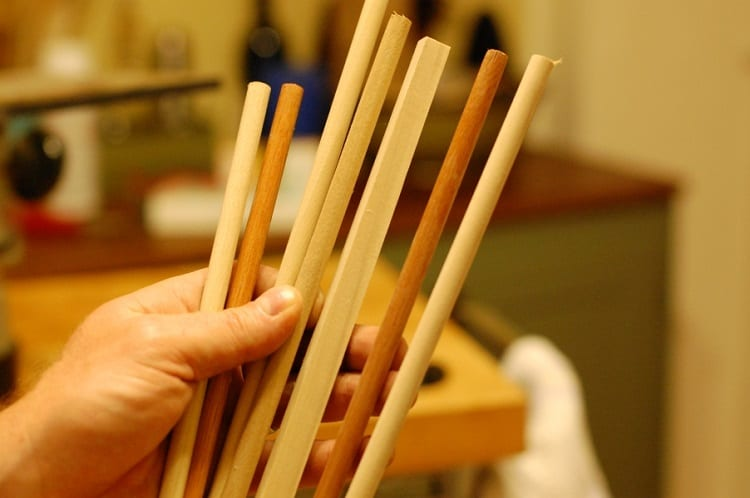 Holding Arrow Wooden Shafts